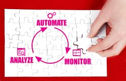 Business process automation royalty free stock photo