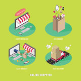 Business process concept of online internet shopping . Royalty Free Stock Photo