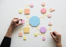 Business Process Concept Shapes Paper stock images
