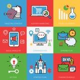 Business process concept vector illustration set L Stock Images