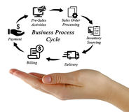 Business Process Cycle. Presentation of Business Process Cycle Royalty Free Stock Photo