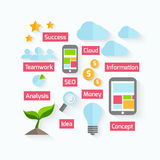 Business process design in flat style Stock Photo