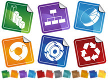 Business Process Diagram Button Set Stock Photos