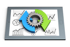 Business process chart Stock Photos