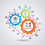 Business process infographics Royalty Free Stock Image