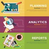 Business Process Management. Vector. Set of Business Process Management. Flat Vector Illustrations stock illustration