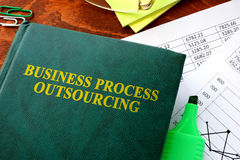 Business Process Outsourcing, BPO. Book with title Business Process Outsourcing, BPO stock photos