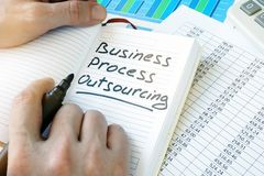 Business Process Outsourcing, BPO. stock images