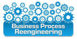 Business Process Reengineering Blue Gears Stock Photography
