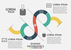 Business process. Timeline infographics with 3 options, circles.Vector template.Three steps infographics a strategy, workflow or t. Eam work Stock Photo