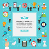 Business process vector background in flat style Stock Image