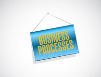 Business processes banner sign concept Royalty Free Stock Photos