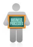 Business processes board Royalty Free Stock Photo