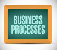 Business processes board sign concept Stock Photo