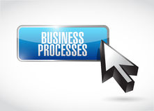 business processes button sign concept Royalty Free Stock Image
