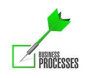 Business processes check dart sign concept Stock Photography