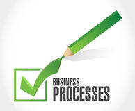 Business processes check sign concept Royalty Free Stock Images