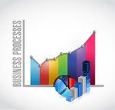 Business processes color graph sign concept Stock Photos