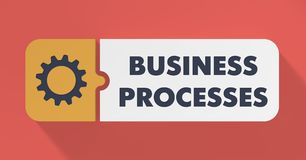 Business Processes Concept in Flat Design. Royalty Free Stock Photo