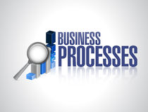 Business processes graph review sign concept Royalty Free Stock Photo
