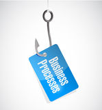 Business processes hook tag sign concept Royalty Free Stock Photos