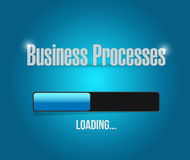 Business processes load bar sign concept Stock Photography