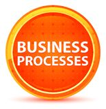 Business Processes Natural Orange Round Button stock illustration