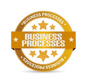 Business processes seal sign concept Stock Photos
