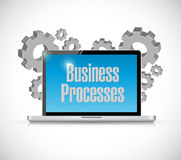 business processes tech computer sign concept Stock Photo