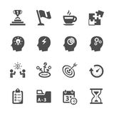Business productivity icon set, vector eps10 Royalty Free Stock Photos