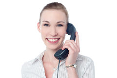 Business professional attending call Royalty Free Stock Image