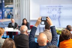 Business or professional conference stock images