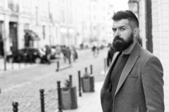 Business professional. Hipster in business style on street. Bearded man going to work. Business man in modern city. Professional businessman leading busy stock photography