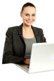 Business professional operating laptop Stock Photo
