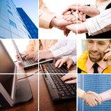 Business professionals. Concept made from my images and photos, great for your design and art-work stock image