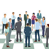 Business professionals on chess board Stock Image