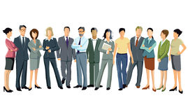 Business professionals. Group of business professionals standing dressed in suits on white background Royalty Free Stock Image