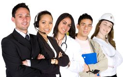 Business professionals - job recruitment Stock Images