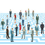 Business professionals in maze Stock Photo