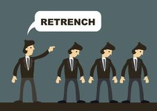 Business professionals order to leave by employer. Concept of retrenchment stock images
