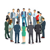 Business professionals standing in circle Stock Photo