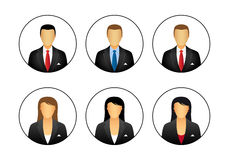 Business profile icons stock illustration