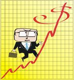 Business profit cartoon Stock Image