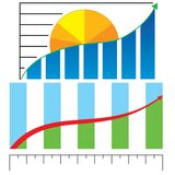 Business profit chart Royalty Free Stock Images