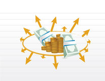 Business profit diagram illustration Royalty Free Stock Photo