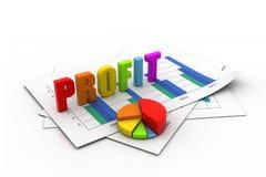 Business profit  graph. 3d illustration of Business profit  graph Stock Images