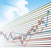 Business Profit Graphs. Trade Chart-professional, profitable Graph, vector Royalty Free Stock Image