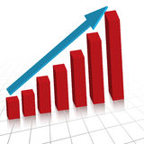 Business profit growth graph c. Vector - Business profit growth graph chart with reflection Royalty Free Stock Image