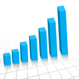 Business profit growth graph c. Vector - Business profit growth graph chart with reflection Royalty Free Stock Photography