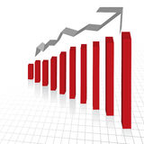 Business profit growth graph c. Vector - Business profit growth graph chart with reflection Royalty Free Stock Photos